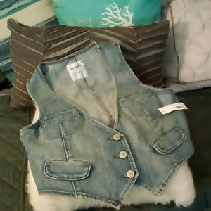 Old Navy Denim Vest NWT